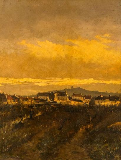 Edmond CERIA (1884-1955). Basses-Alpes, soleil...