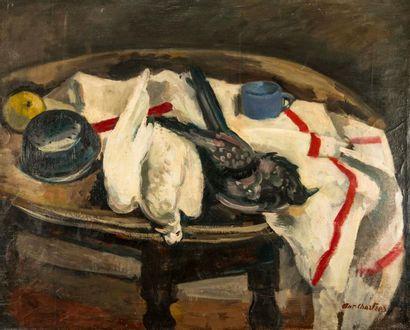 Antoine CHARTRES (1903-1968). Les pigeons....
