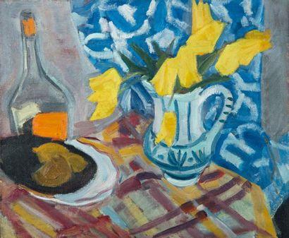 Antoine CHARTRES (1903-1968). Bouquet jaune....