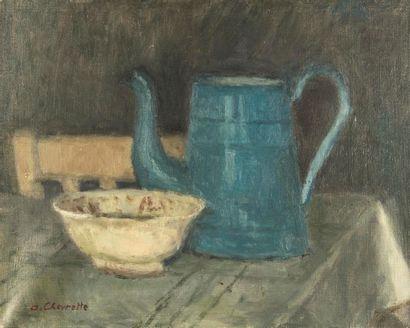 Alain CHEVERETTE (né en 1947). La cafetière...