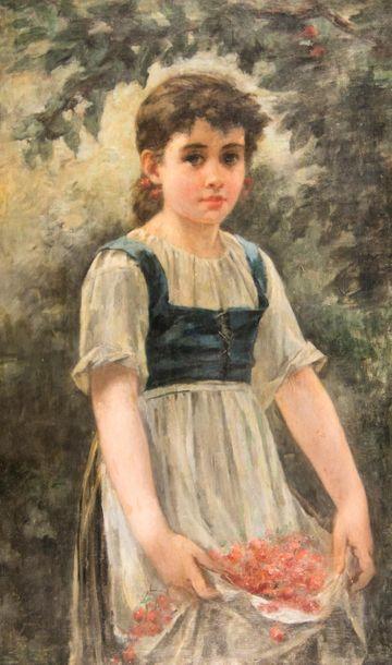 Édouard D'APVRIL (1843-1928) Attribué à....