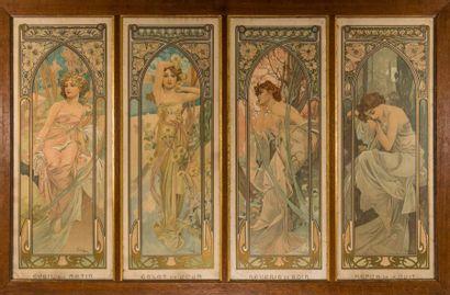 Alphonse MUCHA (1860-1939) - « Les Heures...