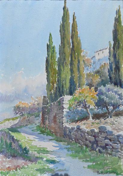CHAMPEVILLE Pierre, from (1885-1950). Landscape...