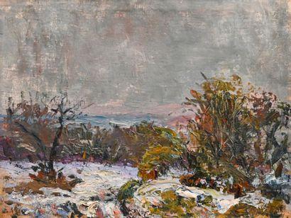 DREVON Jean (1889-1979). First snow in Dauphiné....