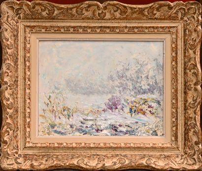 DREVON Jean (1889-1979). Winter in Dauphiné....