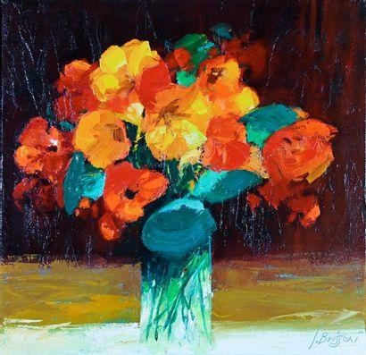 BRISSONI Jean (born in 1932). Léa's bouquet....