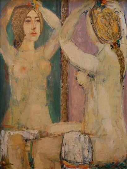 GARABETIAN Cricor (1908-1993). Naked in the...
