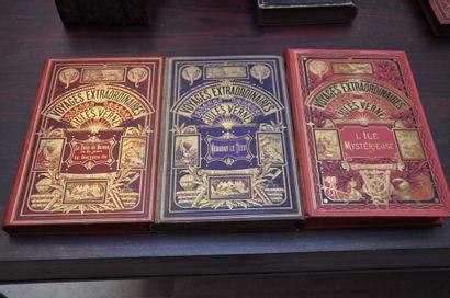 Three volumes of Jules VERNE. VERNE (Jules)....