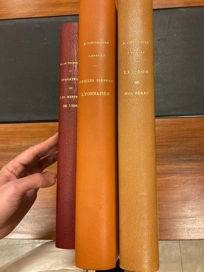[LYON]. 3 volumes:  VILLENEUVE (E. de). Epagathus...