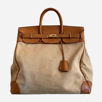 HERMES. Bag HAC Haut à Courroie in natural...
