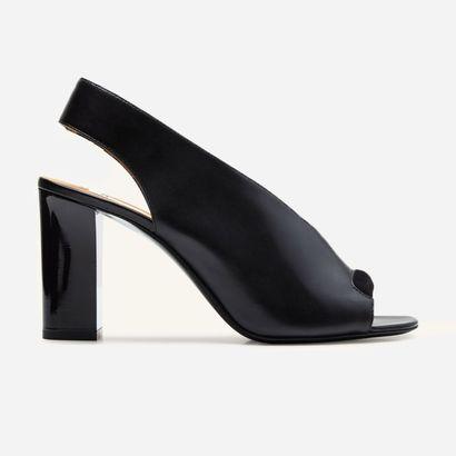 ACNE. Black leather Abbie sandals, open toe,...
