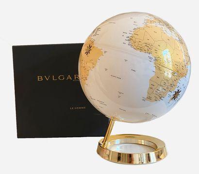 BULGARI. THE GEM. Globe / Mappemonde on golden...