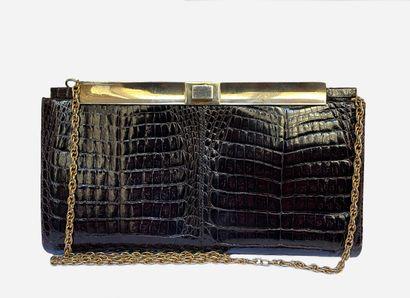 LANCEL. Small bag / Clutch in brown / burgundy...