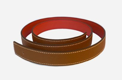 HERMES. 24 mm reversible belt leather in...