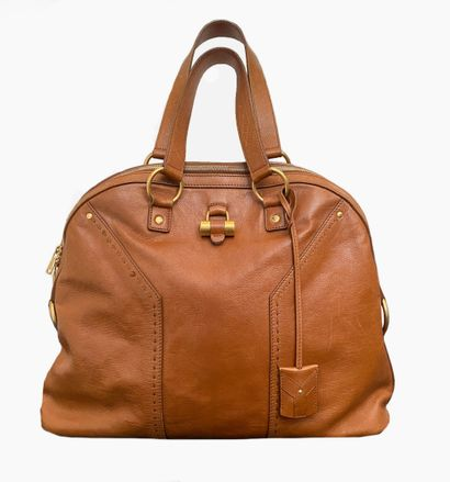YVES SAINT LAURENT. Muse bag in brown leather,...