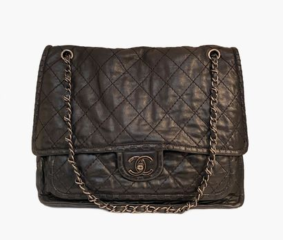 CHANEL. Large Timeless bag in supple aged...