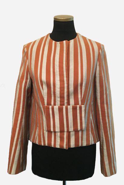 BALENCIAGA. PARIS. Jacket in linen, silk...