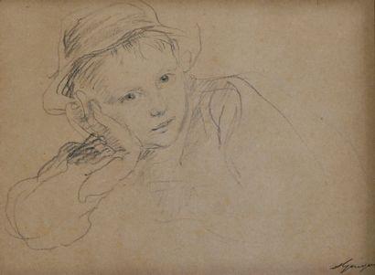 GUIGUET François (1860-1937). Jeune garçon,...