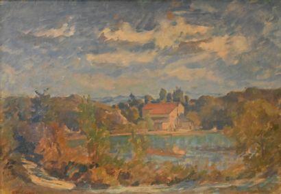 GAY Abel (1877-1961). Paysage au Vouet, près...