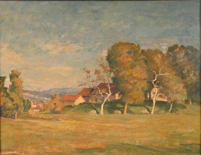 GAY Abel (1877-1961). Étang de Roche. Huile...