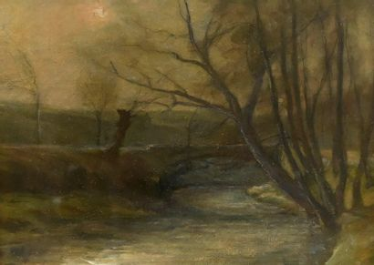 GARRAUD Léon (1877-1961), attribué à. Paysage...
