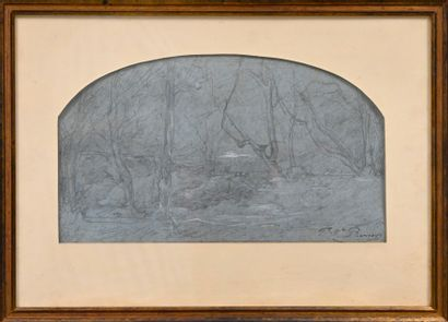 RAVIER François-Auguste (1814-1895). Paysage...