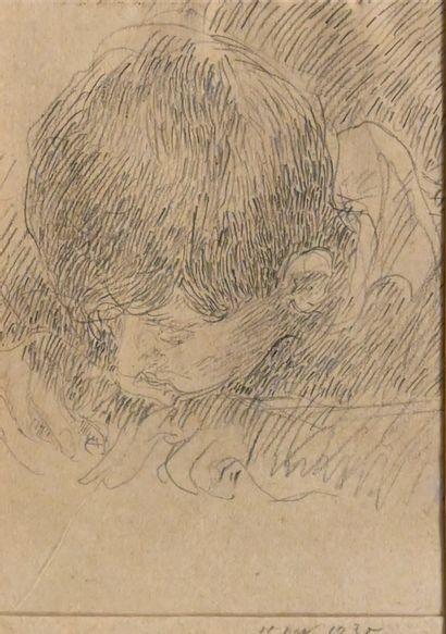 GUIGUET François (1860-1937). Jeune garçon...