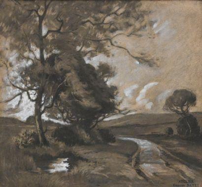 BAYET Eugène (1875-1937). Paysage des environs...