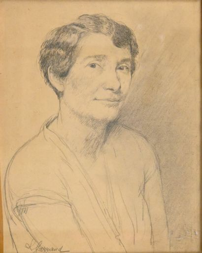 GARRAUD Léon (1877-1961). Portrait de femme....