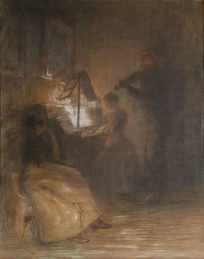 GUIGUET François (1860-1937).Le concert intime....