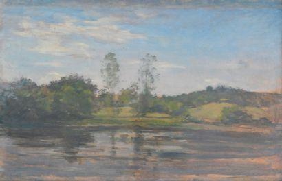 REIGNIER Claude-Marie (1870-1954). L'étang...