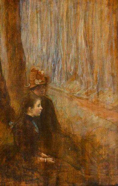 GUIGUET François (1860-1937). Jeune fille...