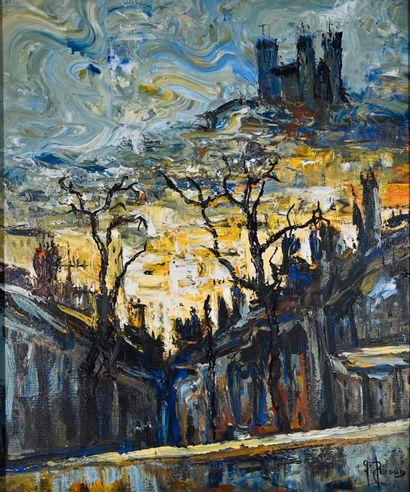 PECOUD Gilbert (né en 1951). Lumière de Lyon....