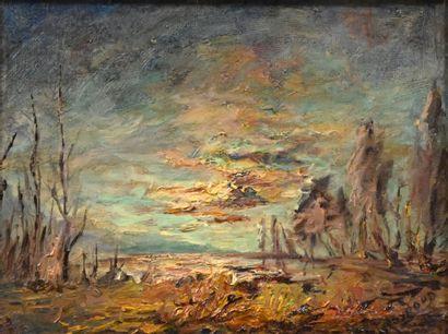 MOYROUD Lucien (1920-2000). Crépuscule en...