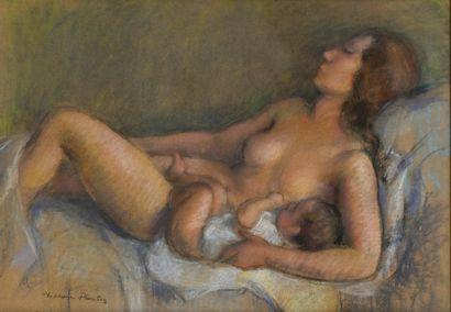 PLANTEY Madeleine (1890-1985). Maternité....