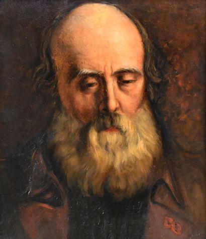 BARRIOT Claudius (1846-1908). Portrait du...