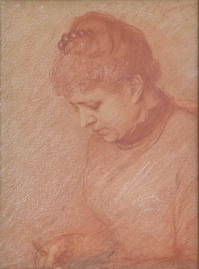 GUIGUET François (1860-1937). La couture....