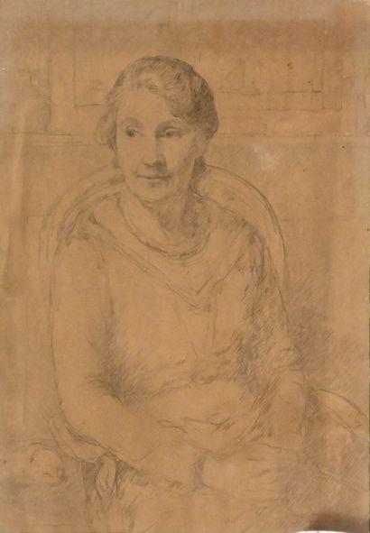 GARRAUD Léon (1877-1961). Portrait de femme...