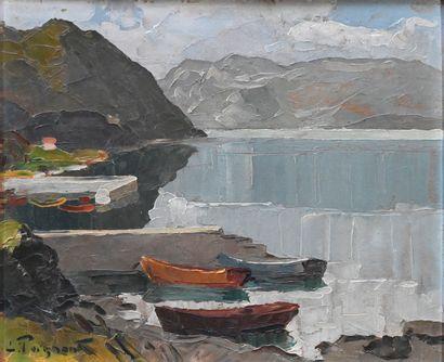 POIGNANT Lucien (1905-1941). Le Lac du Bourget...