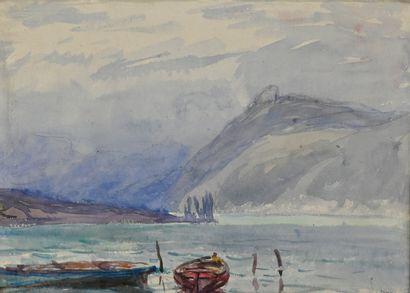 DREVET Joannès (1854-1940). Temps orageux...