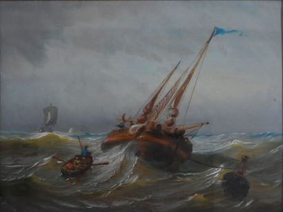BAUDET A. (École française du XIXe). Marine....