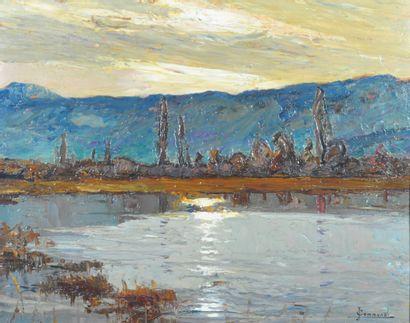 COMMUNAL Joseph-Victor (1876-1962). Fin d'après-midi...