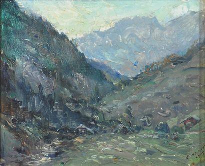 NOIROT Émile (1853-1924). Les Aravis, Vallon...