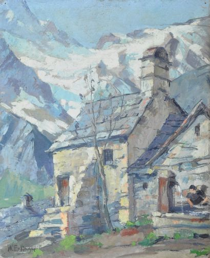 ESSLINGER Willy (1904-1983). La Grave avec...