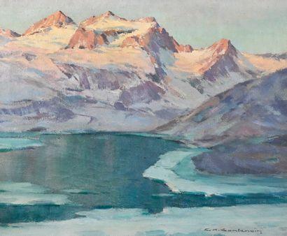 CONTENCIN Charles-Henri (1898-1955). Le Lac...