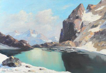 BOUVIER Julien (1913-1973). Le Lac de l'Eychauda....