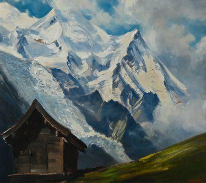 WIBAULT Marcel (1904-1998). Le Mont Blanc,...