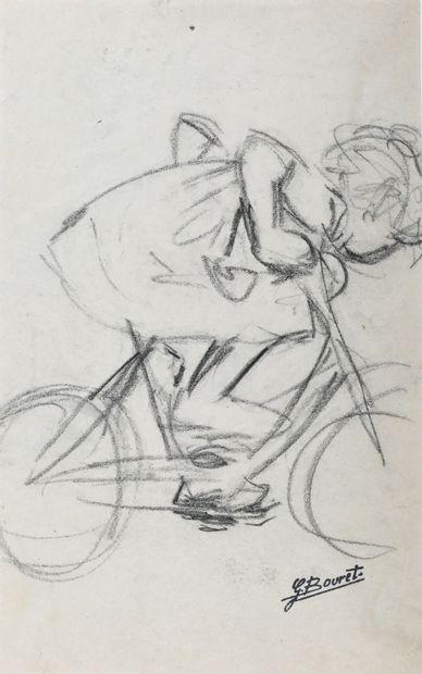 BOURRET Germaine (1907-1953). Fillette à...