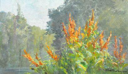 BRET-CHARBONNIER Claudia (1863-1951). Fleurs...