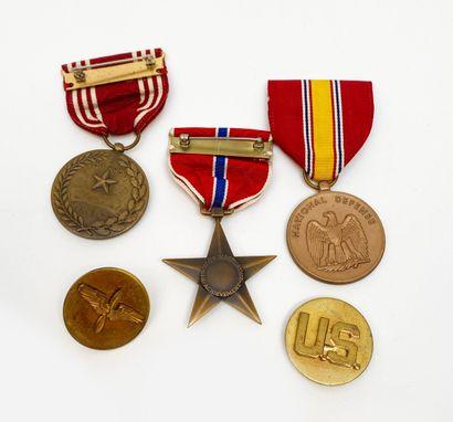 USA: Médaille bronze Star, Good Conduct,...